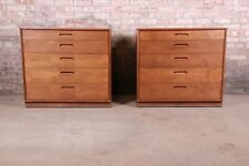 Edward Wormley for Dunbar Mahogany Bachelor Chests or Large Nightstands