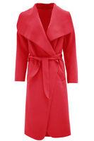 New Italian Celebrity Waterfall Drape Belted Coat Jacket Abaya Long Sleeve Cape