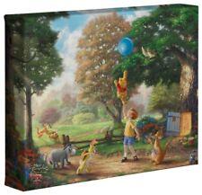 Thomas Kinkade Disney Winnie the Pooh Ii, 8 x 10 Canvas Wrap (+ Cert. of Auth.)