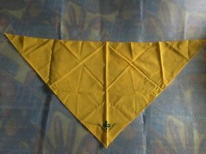 yellow Girl Scout scarf, new logo.