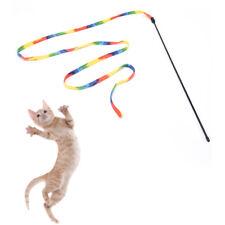 pet cats rainbow cloth stick toy interactive toys pet jump training cute Xmas FO