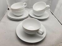 Studio Nova Y0104 Tivoli White Set 5 tea coffee cup and 5 saucers plates