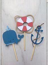 Nautical Cupcake Topper. Nautical Party Cupcake topper. Nautical Boy Baby Shower
