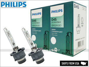 2X Philips D4S X-treme Vision HID XENON Headlight Bulbs 4800K 42402XV2C1 GERMANY