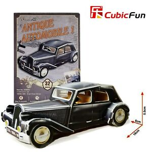 CUBIC FUN 32pcs Antique Automobile Car 1 DIY 3D Puzzle Model Building Kit Toy