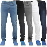 Mens Skinny Jeans Denim Super Stretch Slim Fit Casual Pants Trousers All Waist