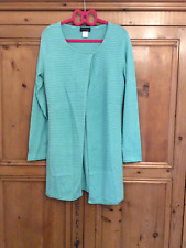 Creation L @ Kaleidoscope Size 10 Jade Green Longline CARDIGAN Ribbed £42