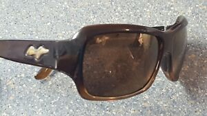 Maui Jim Palms Brown Designer Sunglasses Made in Italy