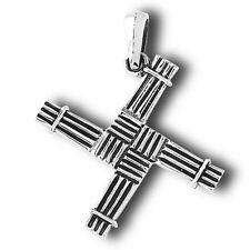 Saint Bridget St. Brigid Cross Sterling Silver Pendant