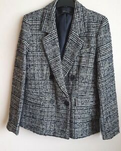 ZARA WOMEN CHECKED DOUBLE-BREASTED JACKET BNWT SIZE L 0605/221  RRP £69.99