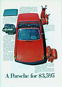 Original circa 1970 Porsche 914 Color Advertisement for the U.S. Market