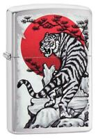 Zippo Accendino 29889 tigre Antivento Ricaricabile Lighter Briquet Feuerzeug Enc