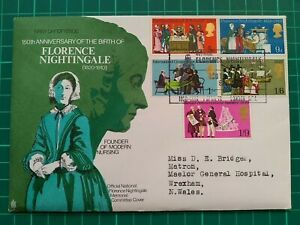 1970 General Anniversaries Trident FDC Florence Nightingale Exhibition Postmark