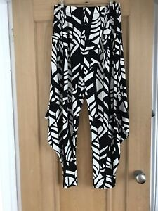 Black and white Harem trousers size 10 NEW