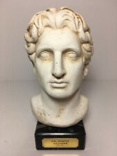 Alexander the Great Macedonian Bust Marble Base 7.25""