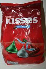 Hershey's KISSES Milk Chocolate RED GREEN & SILVER Colors 1.02kg Bulk Bag