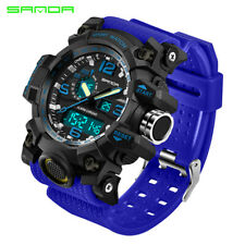 Men's Sport Shock Watch Dual Display Digital LED Electronic Quartz Watches Gift