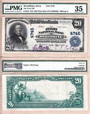 1902 PB $20 First National Bank of Woodbine, Iowa Fr.654 CH#4745 PMG CHOICE VF35