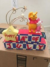 Disney Pooh and Piglet 4th Of July Figurine