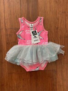 Bonds Baby Disney Tinkerbell Pink Blue Stretchies Tutu Dress Size 0 BNWT