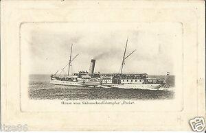 Schiff, Dampfer, Salonschnelldampfer Freia, alte Ansichtskarte um 1900