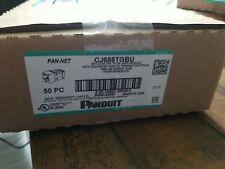 Box Of 50 New Unopened Panduit CJ688TGBU UTP Cat6 Jacks.-BLUE