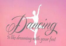 Dancing Figure & Quote - Wall Decor Vinyl Decal Sticker Art DIY Mural