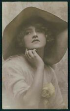 Theater Edwardian Lady Movie Actress IVY CLOSE vintage old 1910s photo postcard