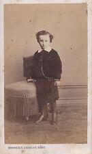 Jeune garçon par Brossier Charlot Chateaudun France Cdv Vintage albumine ca 1860
