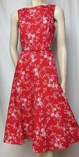 Laura Ashley Sommerkleid 36 rot weiß Blumen vintage Hochzeit Baumwolle