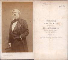 Carjat, Paris, Théodore Gudin, peintre de marine Vintage albumen print. CDV.Th