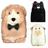 Snug & Toastie Novelty Plush Super Soft 3D Animal Hot Water Bottle And Covers