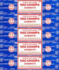 5 Box 40gm Each Satya Sai Baba Nag Champa Agarbatti 200 Gram Incense 2017 Series
