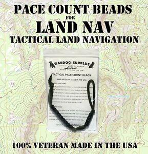 TACTICAL PACE COUNT RANGER BEADS LAND NAV HIKING HUNTING USGI VETERAN MADE NEW