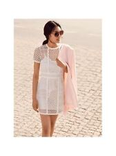 NWT H&M WHITE GUIPURE EYELET LACE PENCIL MINI DRESS RACES PARTY 8 10 4 6 36 38