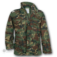 US MILITARY STYLE M-65 COMBAT FIELD JACKET ARMY VIETNAM M65 WOODLAND CAMO