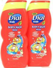 2 Ct Dial Kids 12 Oz Bursting Apple Rapids Tear Free Body & Hair Wash Ages 2 Up