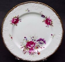 (1) Paragon Bone China (England) Rosalee Queen's Potters Dinner Plate 10 1/2""