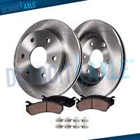 Brake Rotors + Ceramic Brake Pads Toyota Tundra Sequoia Front Rotors Pads Kit