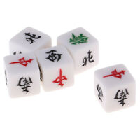MagiDeal Board Game Mahjong Accessories Set of 5 Acrylic Dices Entertainment