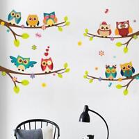 Eule Vogel Wandaufkleber Kinder Lesesaal Kindergarten Abnehmbare Aufkleber Dekor