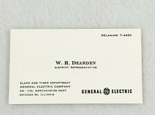 VINTAGE BUSINESS CARD - GENERAL ELECTRIC - DISTRICT REPRESENTIVE - CHICAGO