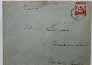 2880 German Colonies Togo Letter Ef 10 Penny 1910 Atakpame Africa