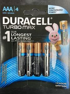 Duracell AAA TURBO MAX Long #1 Long Lasting Power Alkaline Battery Batteries