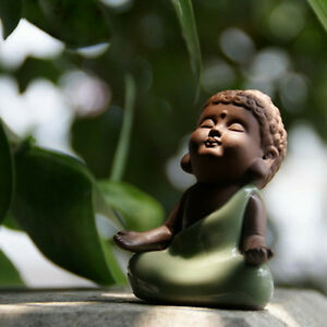 Chinese ornament creative home table decoration pet small Buddha statue yixing