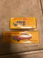 Dinky atlas Jaguar XK120 coupe 157 And Morris Mini Traveller 197 BOXED sealed