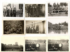 ORIGINAL VINTAGE GERMAN WW2 PHOTOS x 9 SOLDIER GROUPS