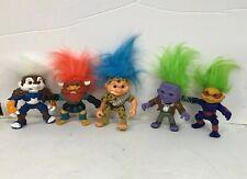 1992 Troll Lot Rambo Battle Troll Vtg Action Figure Hasbro Blue Hair Boots Toy