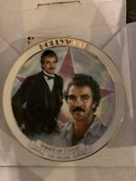 Tom Selleck Commemorative Hollywood Walk of Fame Danbury Mint Plate 1989