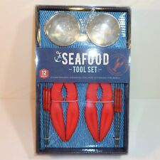 12 Piece Seafood Tool Set ~ Claw Crackers Stainless Steel Picks & Bowls ~ NEW